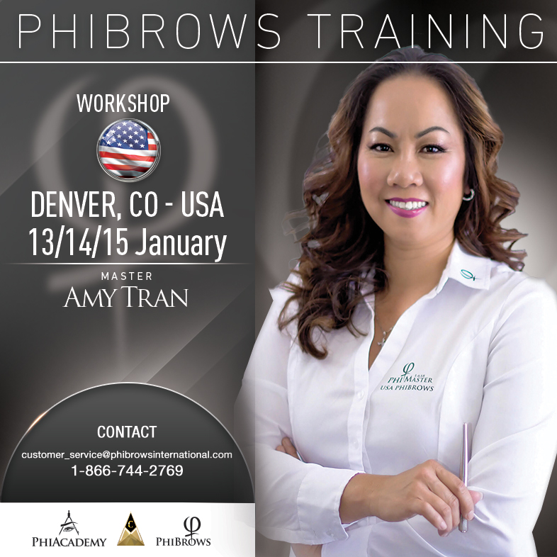 3-Day Phibrows Microblading Training Course in Denver, CO from 01/13/2019 to 01/15/2019