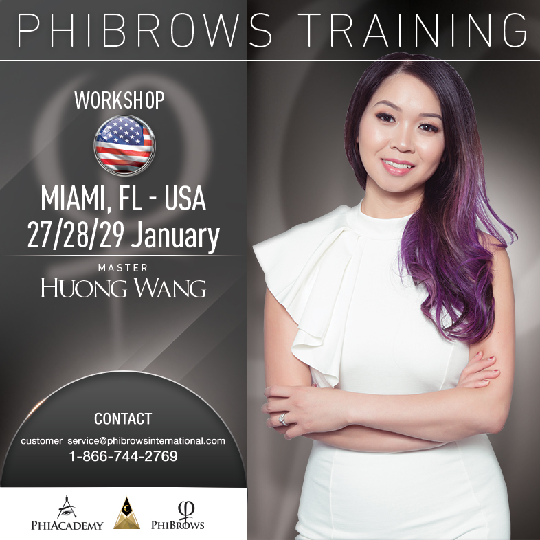 3-Day Phibrows Microblading Training Course in Miami, FL from 01/27/2019 to 01/29/2019