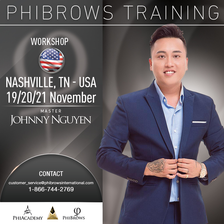3-Day Phibrows Microblading Training Course in Nashville, TN from 11/19/2018 to 11/21/2018