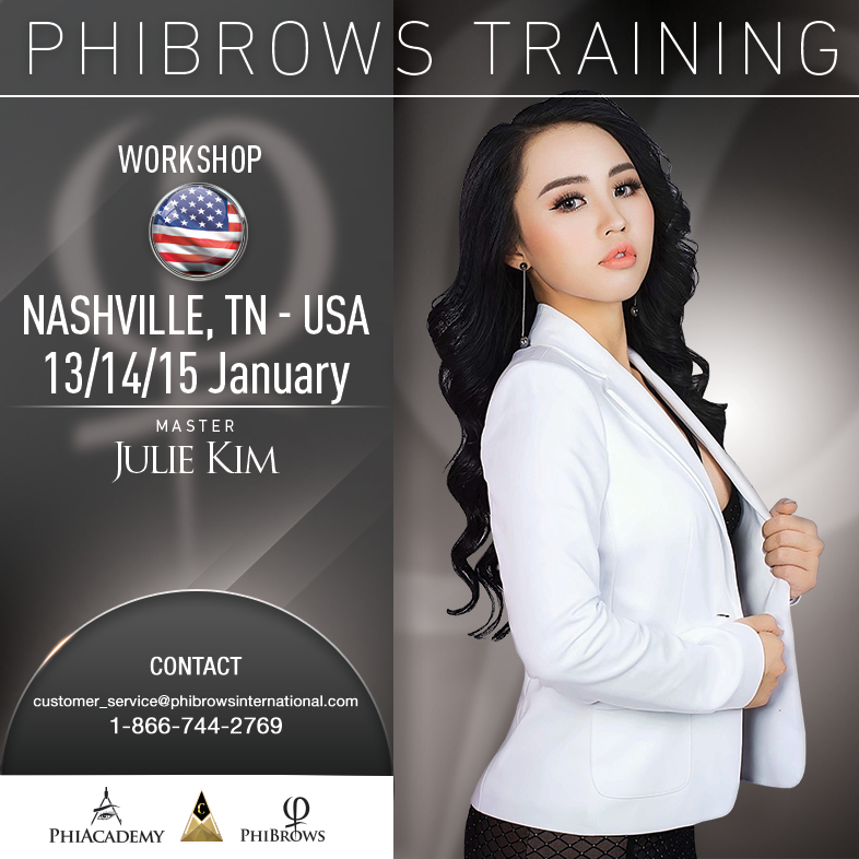 3-Day Phibrows Microblading Training Course in Nashville, TN from 01/13/2019 to 01/15/2019