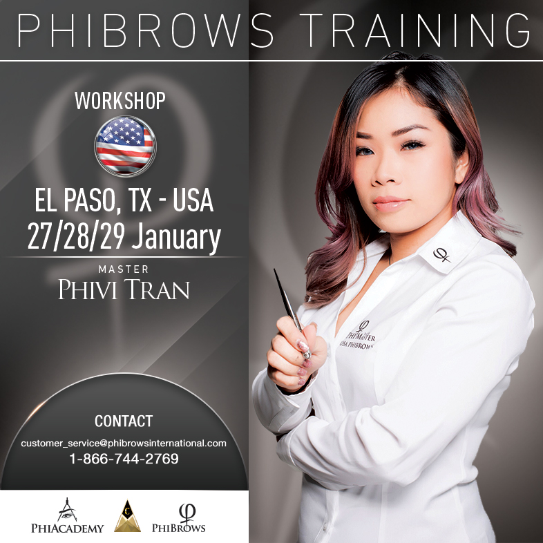 3-Day Phibrows Microblading Training Course in El Paso, TX from 01/27/2019 to 01/29/2019