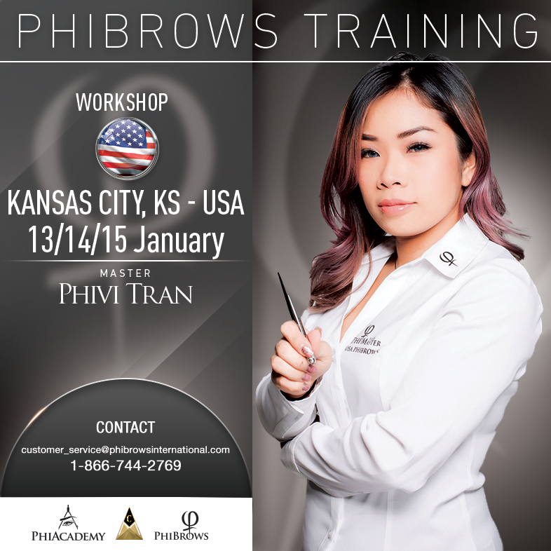 3-Day Phibrows Microblading Training Course in Kansas City, MO from 01/13/2019 to 01/15/2019