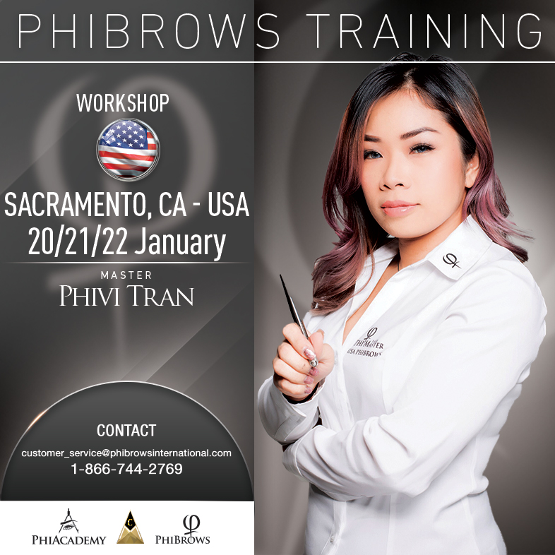 3-Day Phibrows Microblading Training Course in Sacramento, CA from 01/20/2019 to 01/22/2019